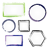 Vector clipart: Set of painted frames