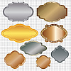 Vector clipart: set of framed labels