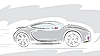 Vector clipart: Racing Sport car