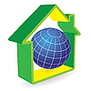Vector clipart: Planet green home