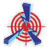 Векторный клипарт: Стрелки целевой