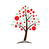 Vector clipart: apple tree symbolic