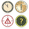 Vector clipart: Clock set