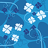 Vector clipart: blue flower background