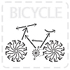 Vector clipart: arrowed bike