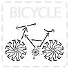 Векторный клипарт: стрелкой велосипед