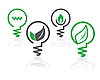 Vector clipart: environment green light bulb icons