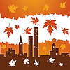 Vector clipart: autumn in the city