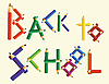 Vector clipart: back to school
