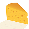 Vector clipart: cheese with holes slice