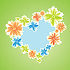 Векторный клипарт: цветами, как символ сердца