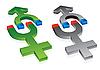 Векторный клипарт: гравитации мужского и женского символов