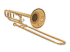 Vector clipart: musical instrument trombone