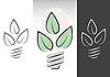 Векторный клипарт: зеленой энергии лампочки символов