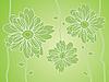 Векторный клипарт: Green Flower силуэты фон
