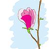 Векторный клипарт: Магнолия розовый цветок цветы