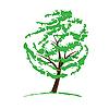 Векторный клипарт: Зеленый рисунок дерева