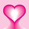 Векторный клипарт: глава сердце форму