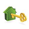 Векторный клипарт: Дом символом и ключевым