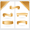 Векторный клипарт: золотыми лентами и углы