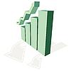 Векторный клипарт: растущий график и Стрелка тенденции