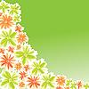 Векторный клипарт: Цветы для дизайна карты