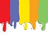 Векторный клипарт: Краска полосы течет капель