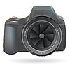 Векторный клипарт: DSLR фотоаппарат