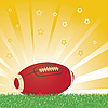 Векторный клипарт: Американский футбольный мяч