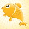 Векторный клипарт: золотая рыбка