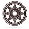 Векторный клипарт: абстрактной колесо