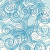 Vector clipart: abstract blue color swirly background