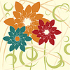 Vector clipart: Stylized Flower background