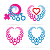 Vector clipart: Male and Female Symbols Set