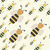 Vector clipart: abstract bee swarm seamless