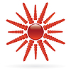 Vector clipart: sun with heart beams