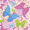 Butterfly seamless pattern | Stock Vector Graphics