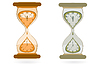 Vector clipart: Hourglass with Wall Clocks