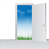 Vector clipart: open door to nature