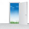 открытая дверь на природу