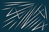 Vektor Cliparts: eingekreisten Linien auf schwarzem