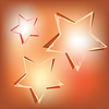 Vector clipart: stars on shining background