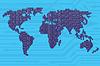 Vector clipart: Digital World Map