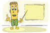 Vector clipart: teacher explain lesson