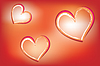 Vector clipart: Hearts on luminous background