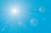 Векторный клипарт: вспышек солнечных лучей ВС