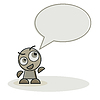 Vector clipart: mascot character and speech bubble