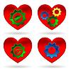 Vector clipart: heart gear green leaf