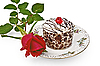 Cake with rose | Stock Foto