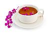 Herbata ziołowa w biały kubek z wierzbownicy | Stock Foto